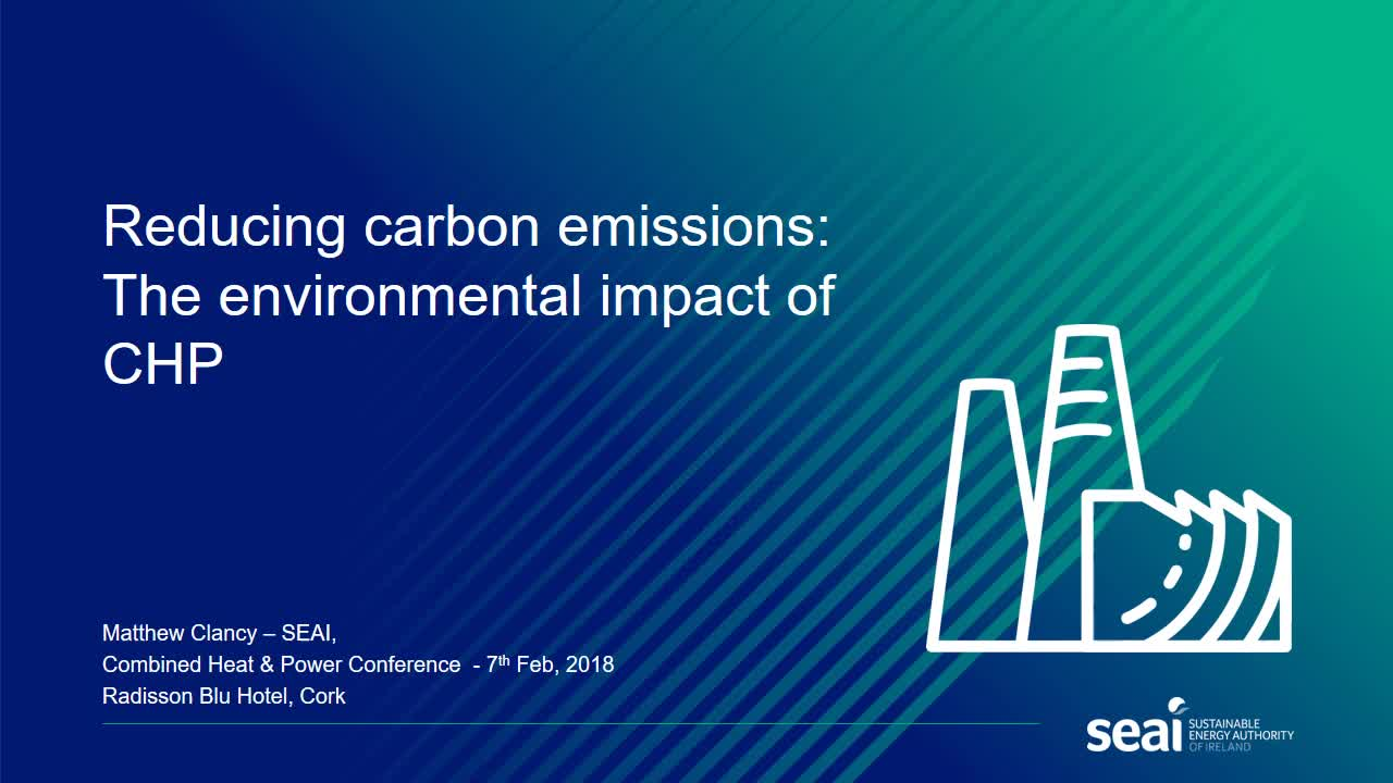 Reducing carbon emissions in Ireland: The environmental impact of CHP (PDF)