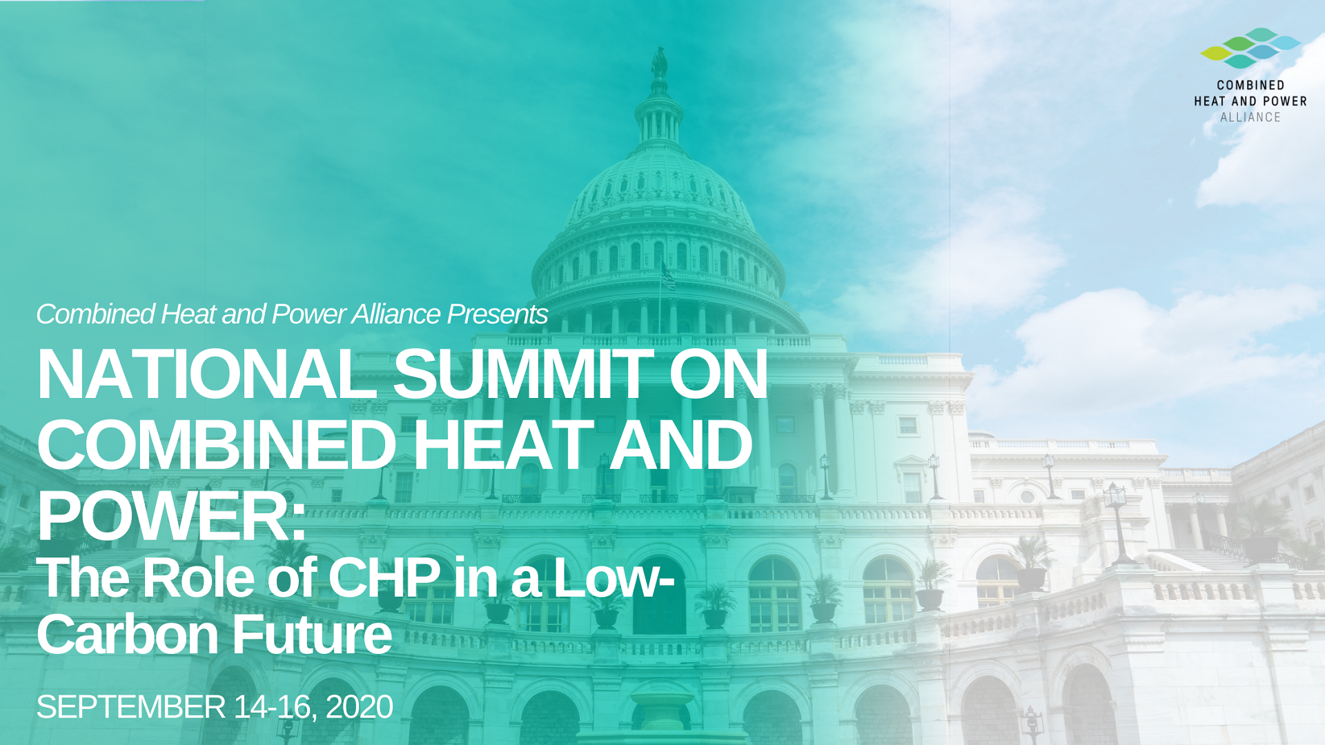 CHP Alliance's vision for the future at the National Summit: +25% installed capacity by 2030 in the USA